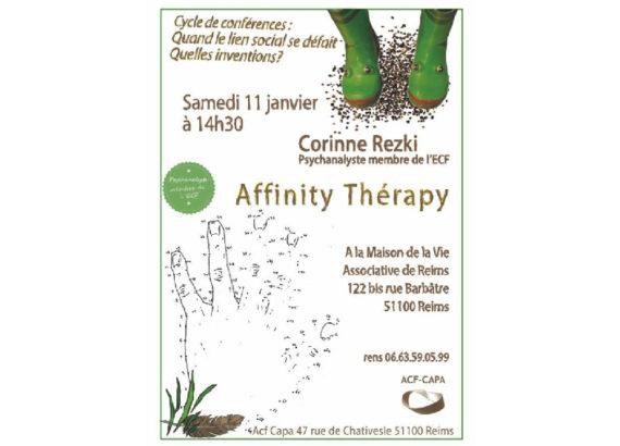"""(51) Colloque - Cycle de conférence : Quand le lien social se défait, Quelles inventions :""""Affinity therapy"""" - Janvier 2020"""
